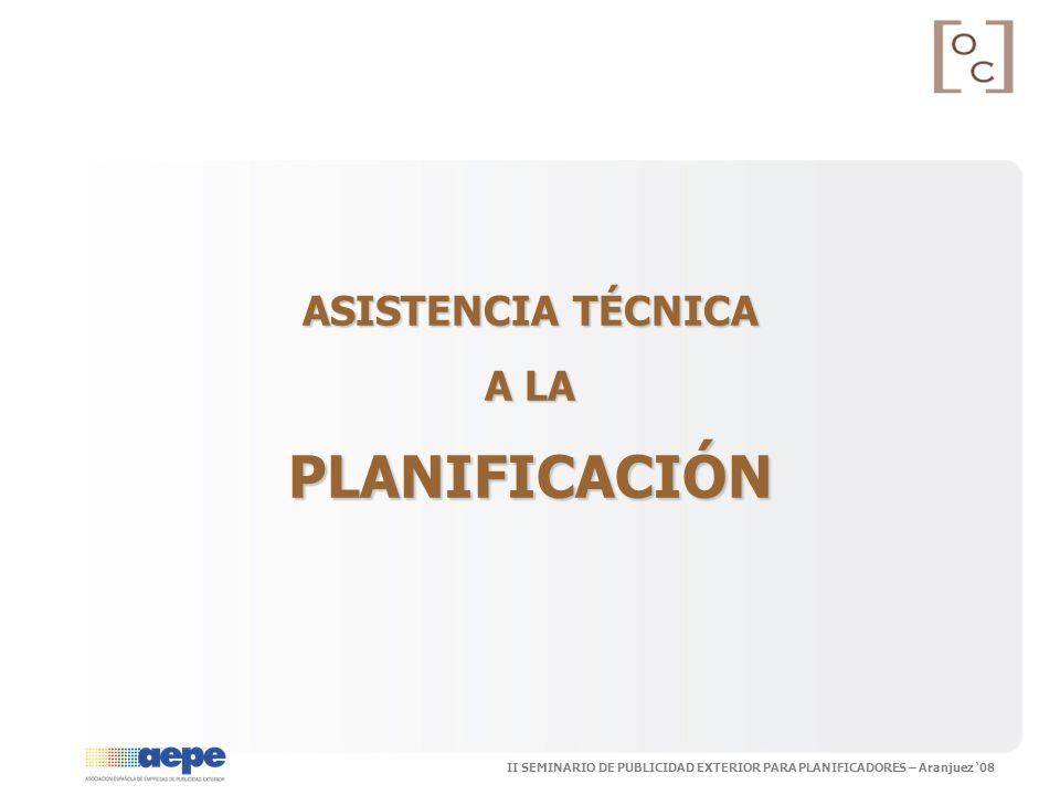 ASISTENCIA TÉCNICA A LA PLANIFICACIÓN