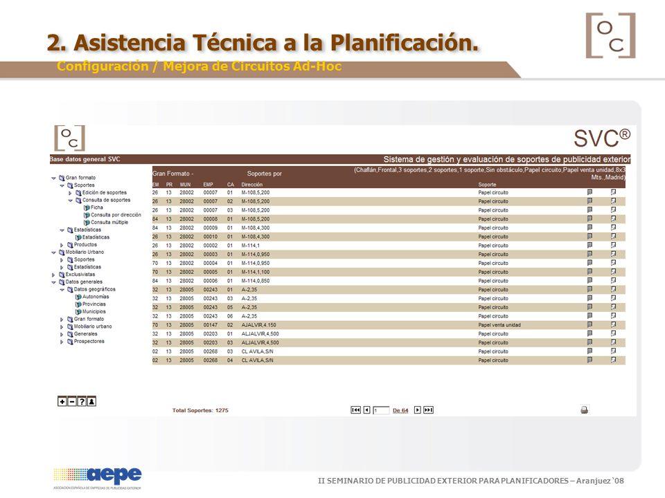 2. Asistencia Técnica a la Planificación.