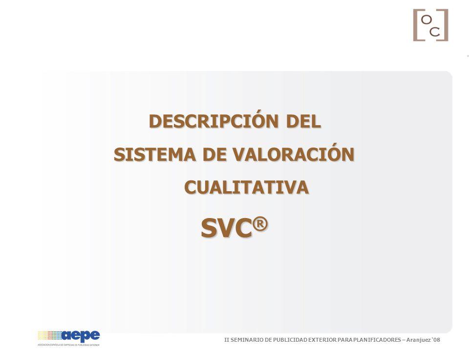 SISTEMA DE VALORACIÓN CUALITATIVA