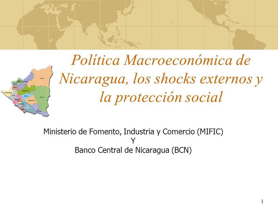 Política Macroeconómica de Nicaragua, los shocks externos y la protección social