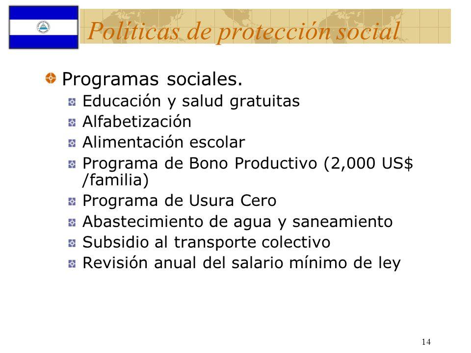 Políticas de protección social