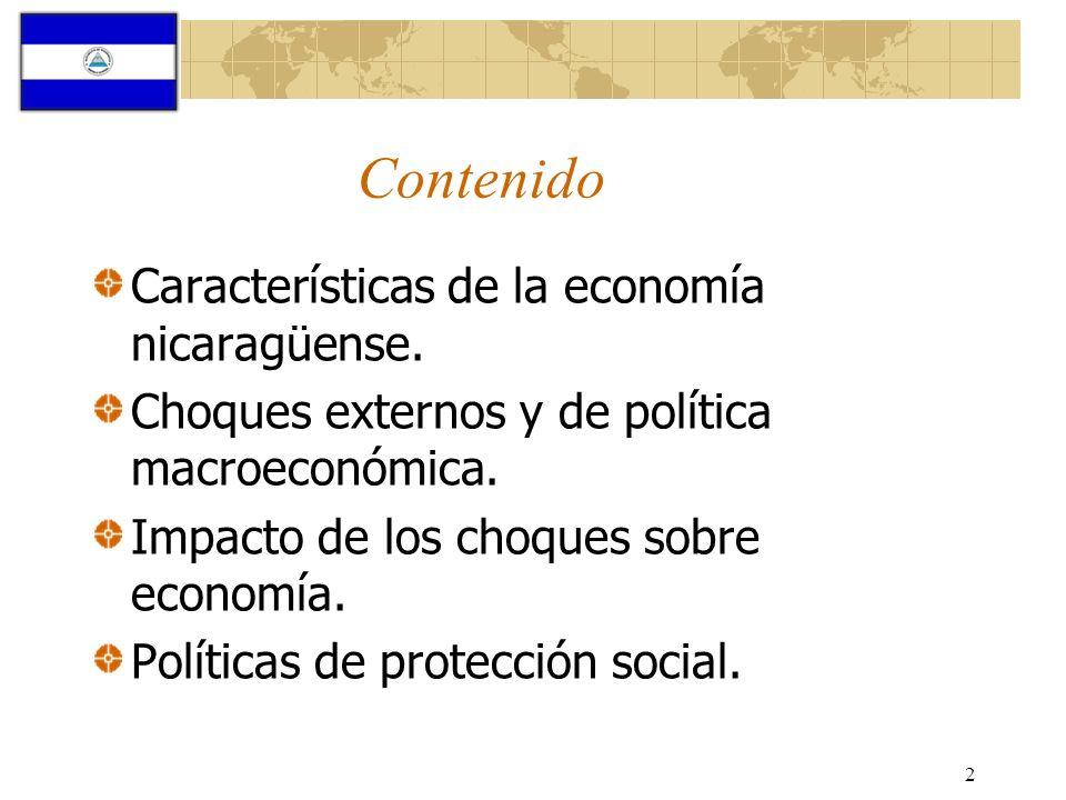 Contenido Características de la economía nicaragüense.