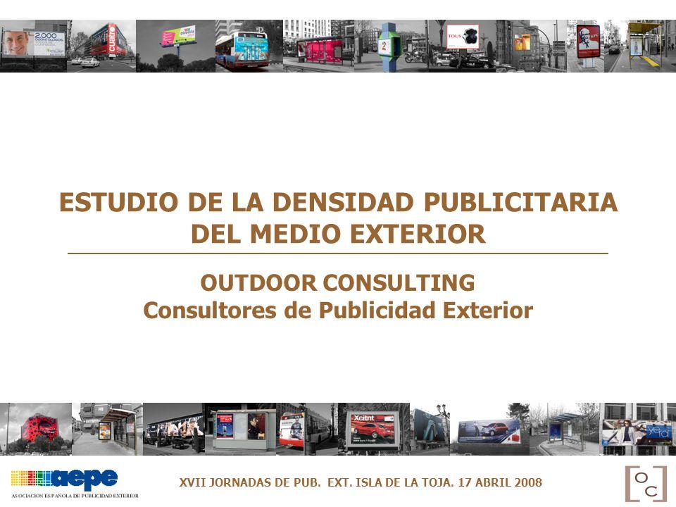 ESTUDIO DE LA DENSIDAD PUBLICITARIA DEL MEDIO EXTERIOR