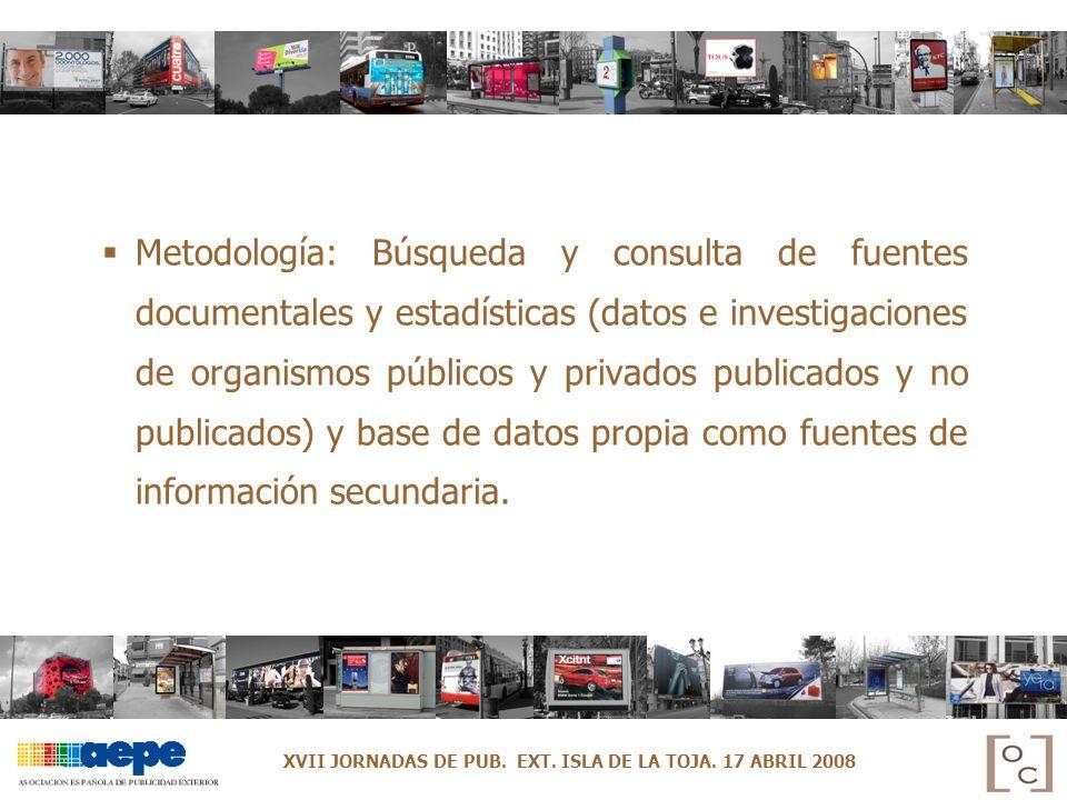 Metodología: Búsqueda y consulta de fuentes documentales y estadísticas (datos e investigaciones de organismos públicos y privados publicados y no publicados) y base de datos propia como fuentes de información secundaria.