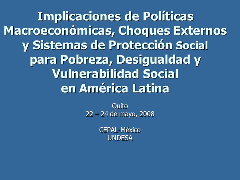 Quito 22 – 24 de mayo, 2008 CEPAL-México UNDESA