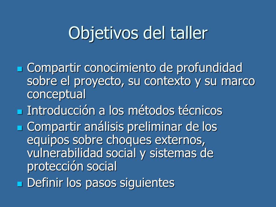Objetivos del taller Compartir conocimiento de profundidad sobre el proyecto, su contexto y su marco conceptual.