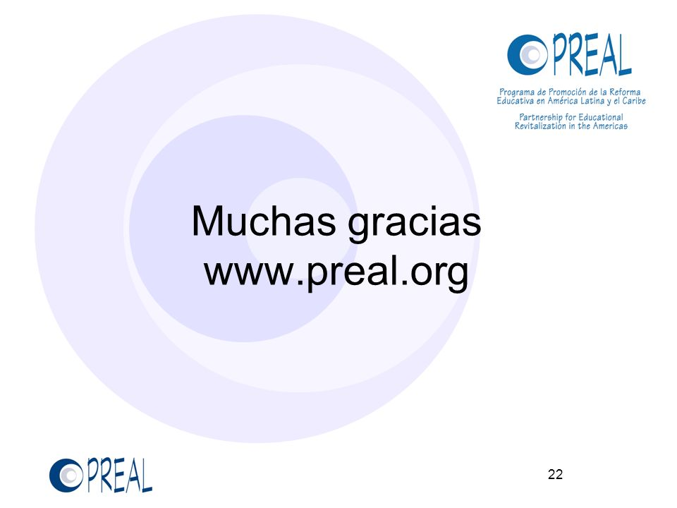 Muchas gracias www.preal.org