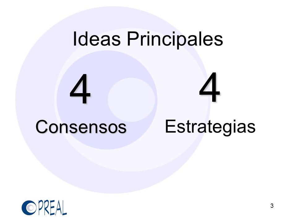 Ideas Principales 4 Consensos 4 Estrategias 3