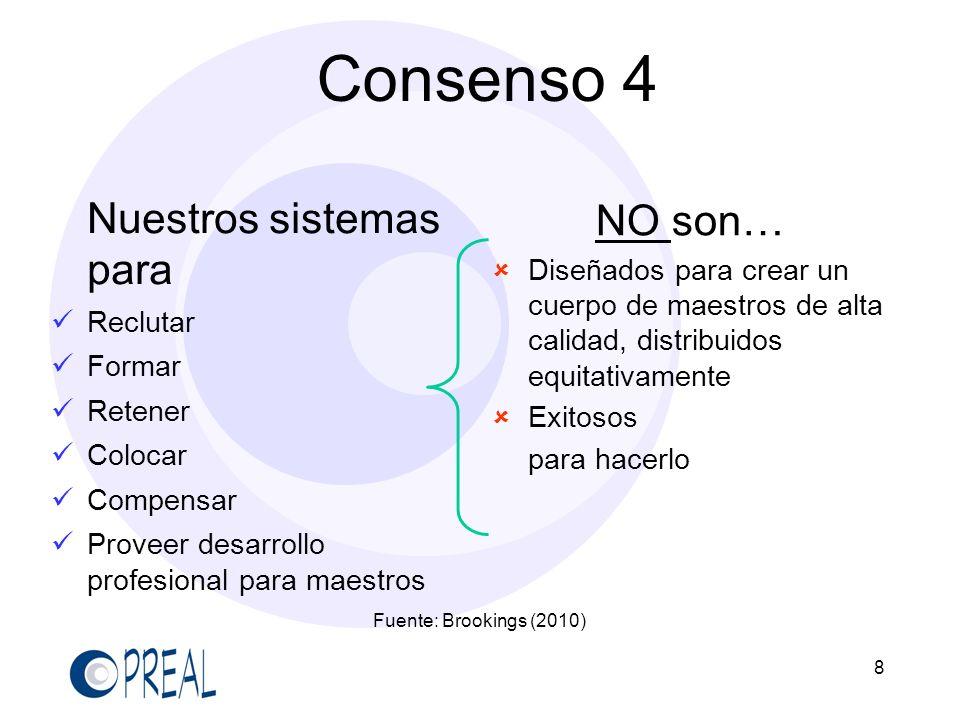 Consenso 4 Nuestros sistemas para NO son…
