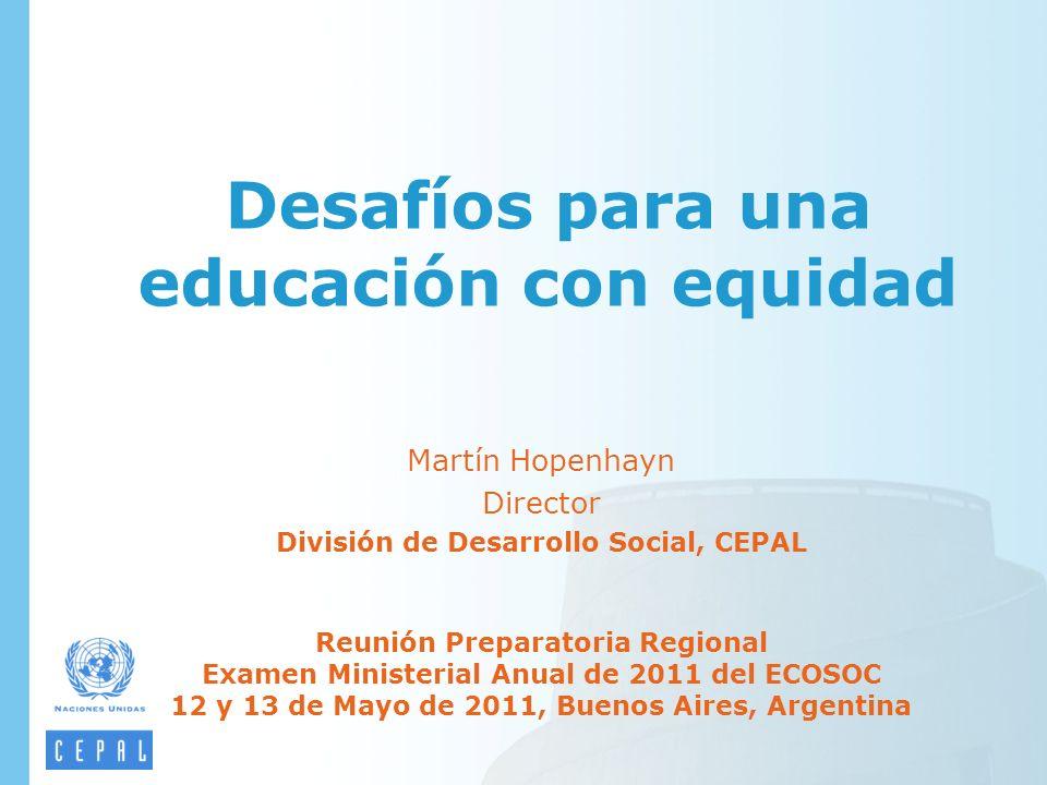 Desafíos para una educación con equidad
