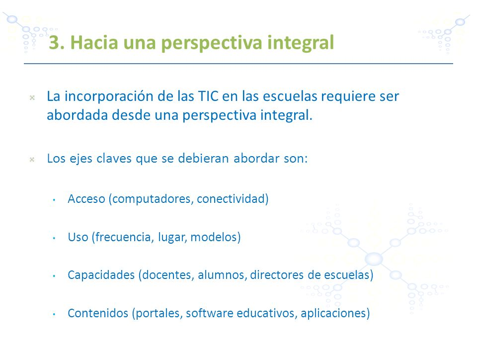 3. Hacia una perspectiva integral
