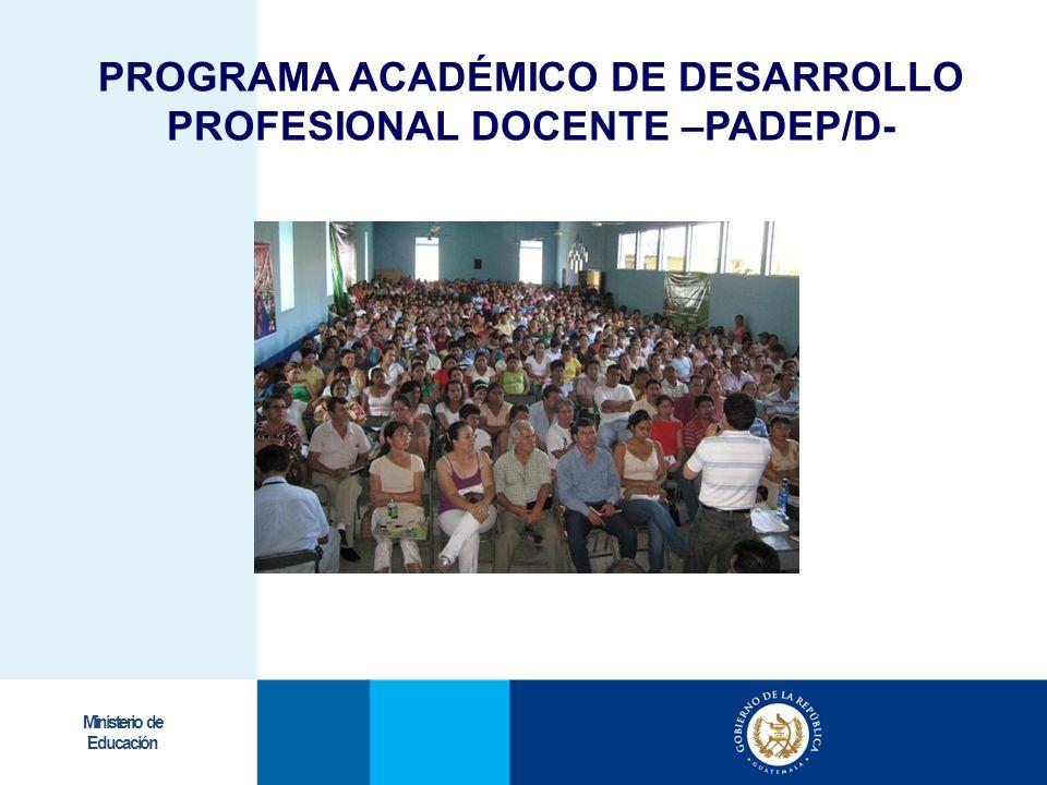 PROGRAMA ACADÉMICO DE DESARROLLO PROFESIONAL DOCENTE –PADEP/D-