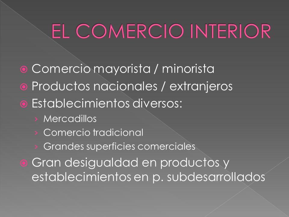 EL COMERCIO INTERIOR Comercio mayorista / minorista