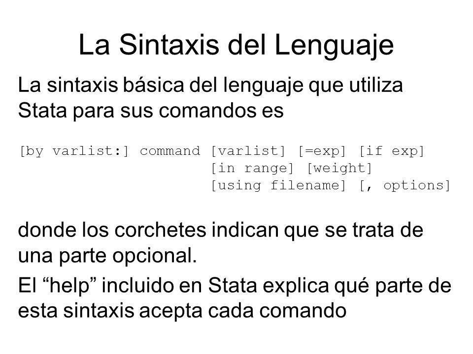 La Sintaxis del Lenguaje