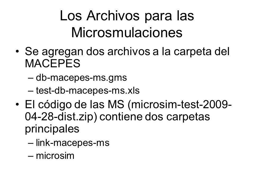 Los Archivos para las Microsmulaciones