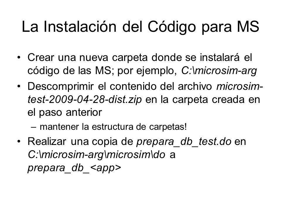 La Instalación del Código para MS