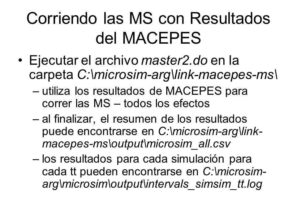 Corriendo las MS con Resultados del MACEPES
