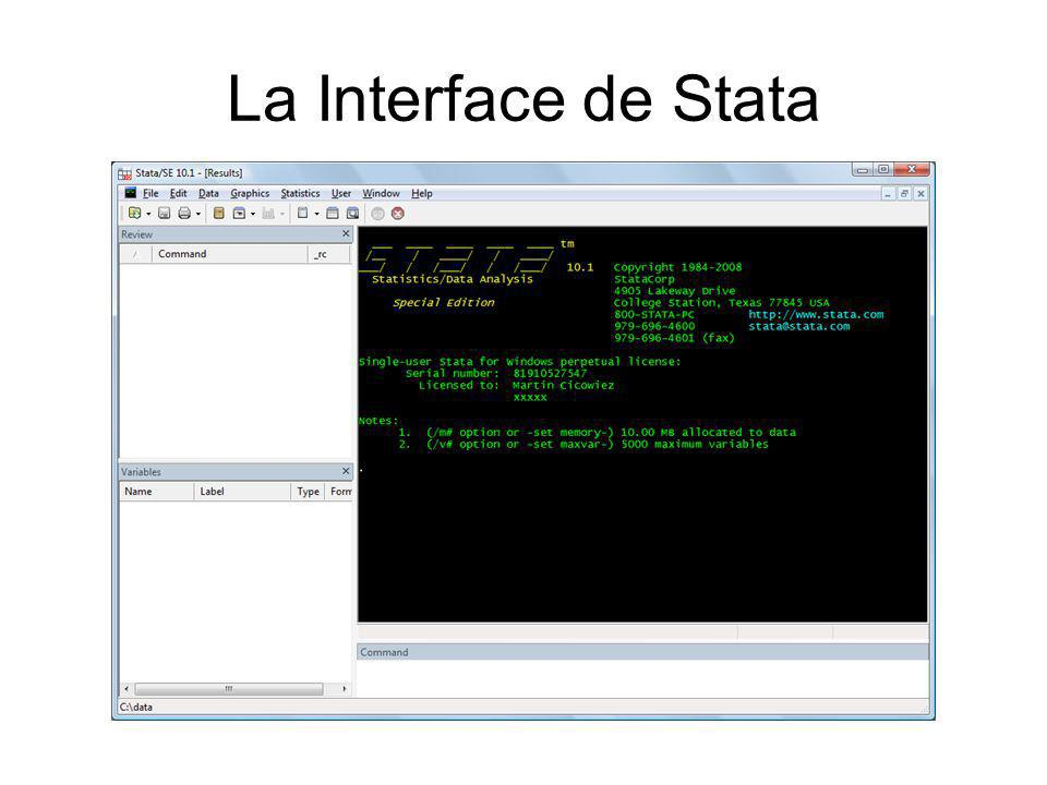 La Interface de Stata