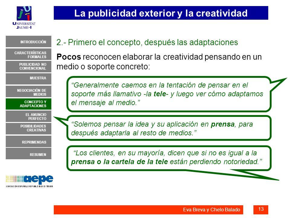 2.- Primero el concepto, después las adaptaciones