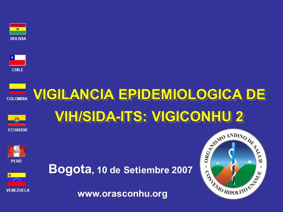 VIGILANCIA EPIDEMIOLOGICA DE VIH/SIDA-ITS: VIGICONHU 2