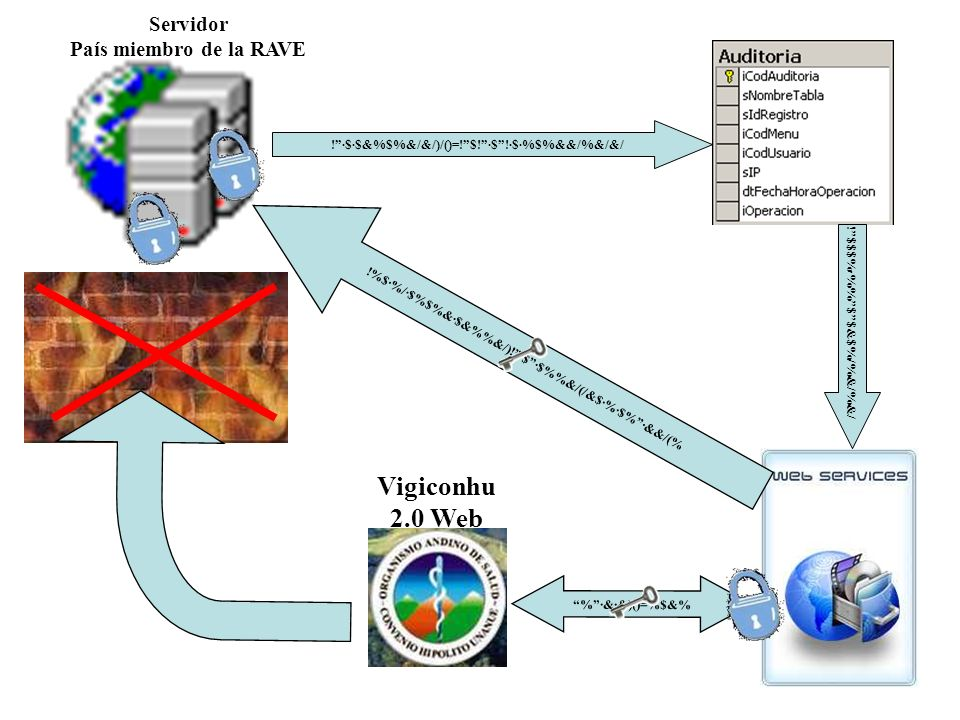 Vigiconhu 2.0 Web Servidor País miembro de la RAVE