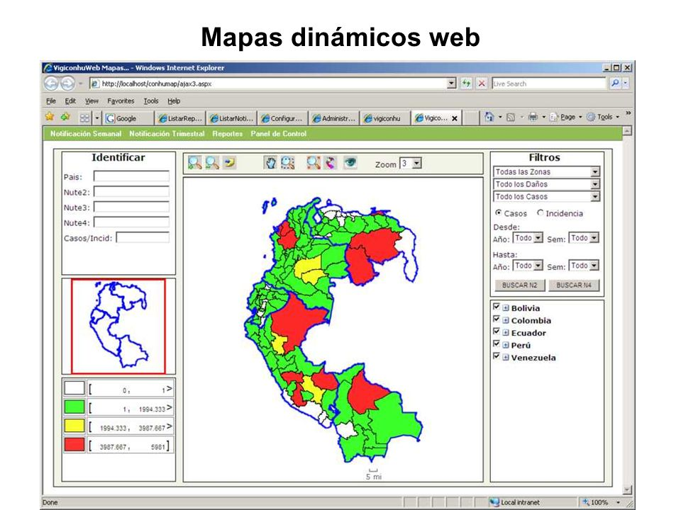 Mapas dinámicos web