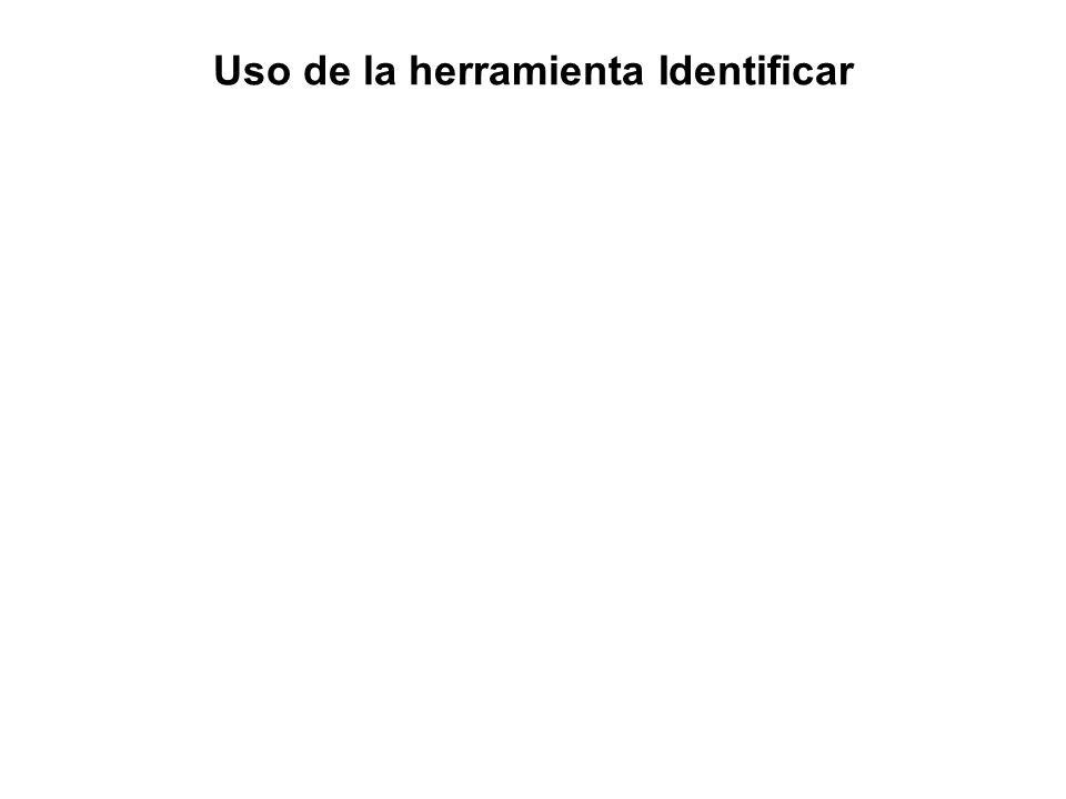Uso de la herramienta Identificar
