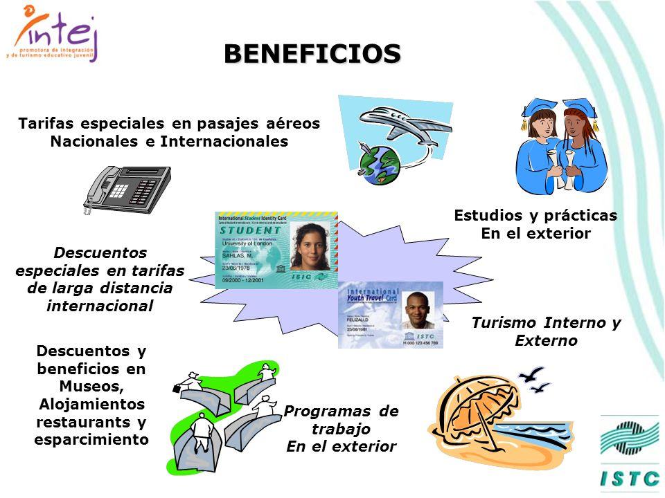 BENEFICIOS Tarifas especiales en pasajes aéreos