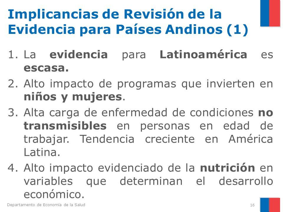 Implicancias de Revisión de la Evidencia para Países Andinos (1)