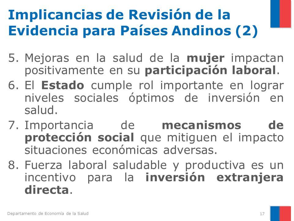 Implicancias de Revisión de la Evidencia para Países Andinos (2)