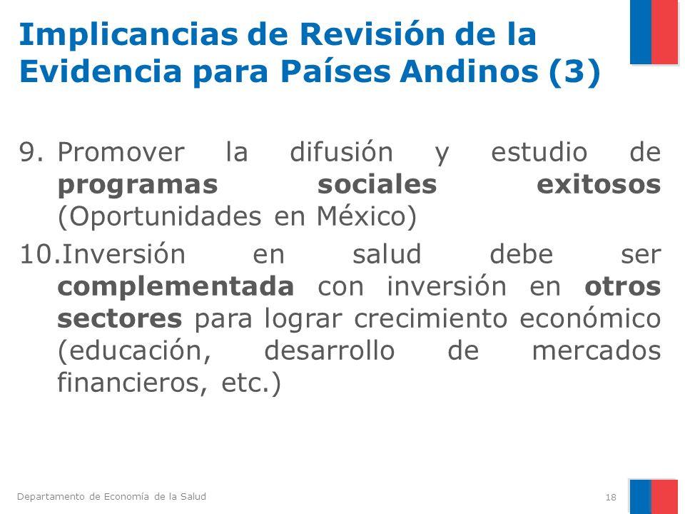 Implicancias de Revisión de la Evidencia para Países Andinos (3)