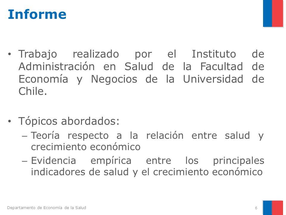 Informe Trabajo realizado por el Instituto de Administración en Salud de la Facultad de Economía y Negocios de la Universidad de Chile.