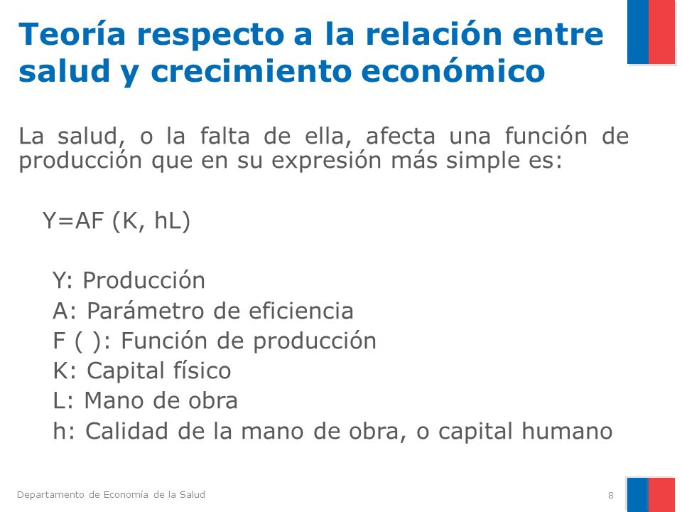 Teoría respecto a la relación entre salud y crecimiento económico