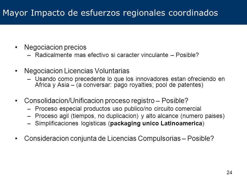 Mayor Impacto de esfuerzos regionales coordinados
