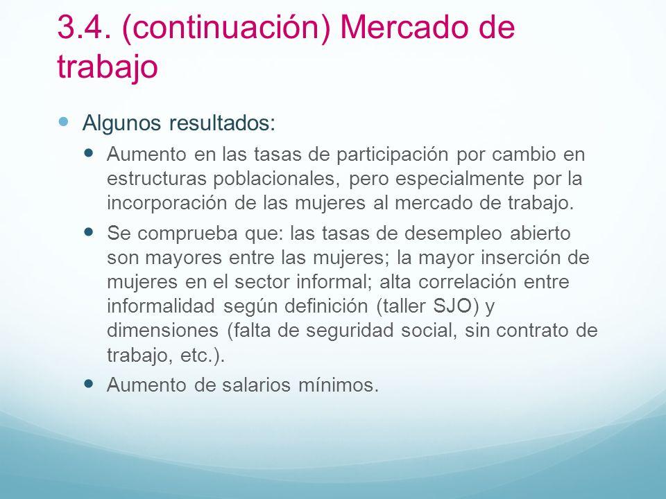 3.4. (continuación) Mercado de trabajo