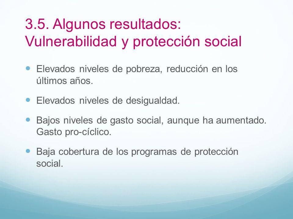 3.5. Algunos resultados: Vulnerabilidad y protección social