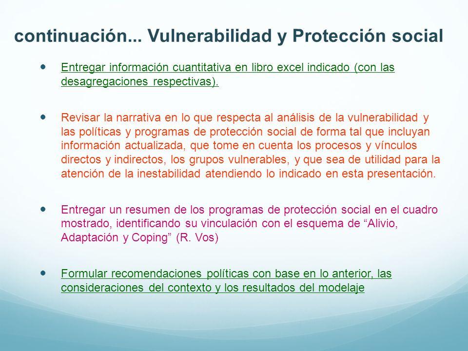 continuación... Vulnerabilidad y Protección social