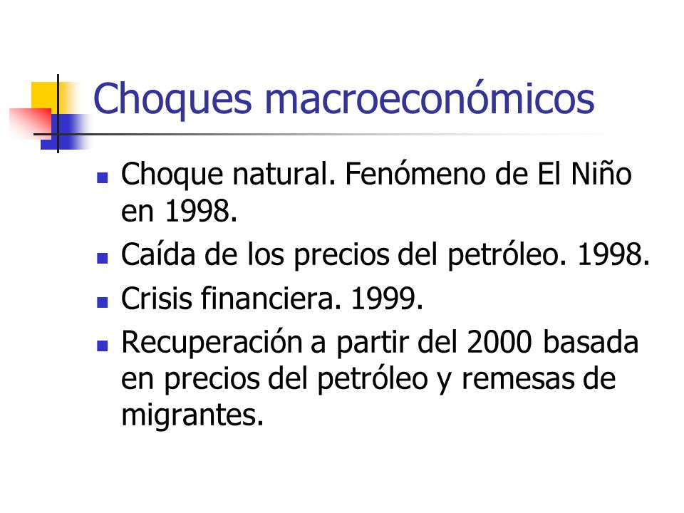 Choques macroeconómicos