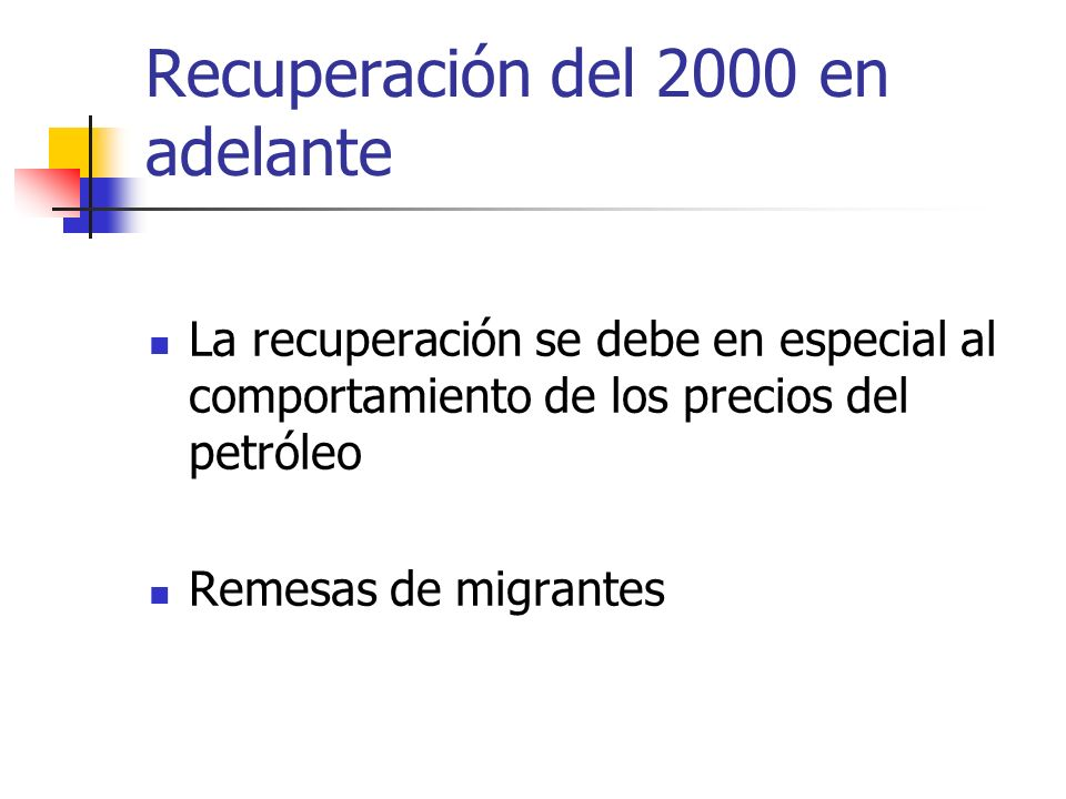 Recuperación del 2000 en adelante