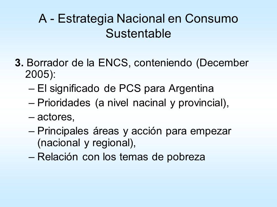 A - Estrategia Nacional en Consumo Sustentable