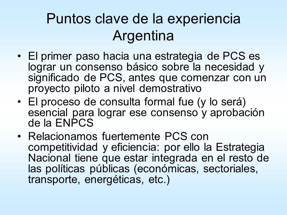 Puntos clave de la experiencia Argentina