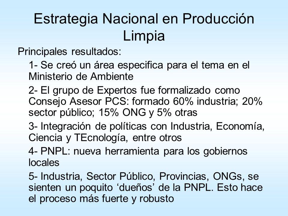 Estrategia Nacional en Producción Limpia