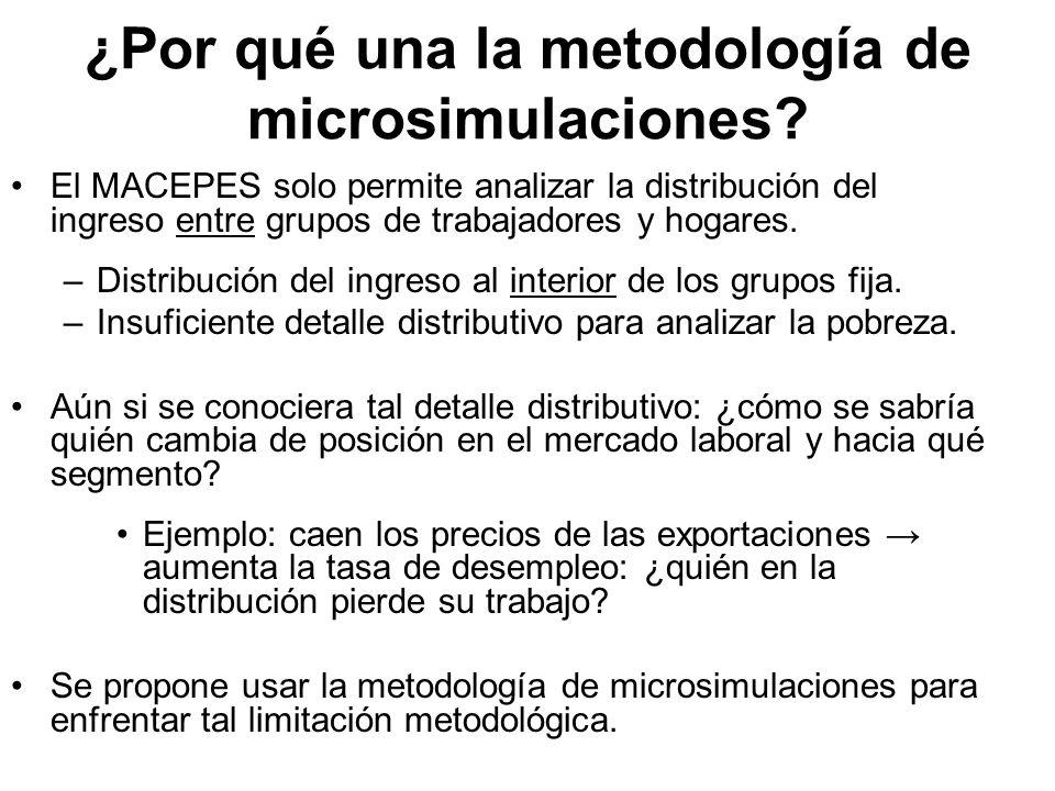 ¿Por qué una la metodología de microsimulaciones