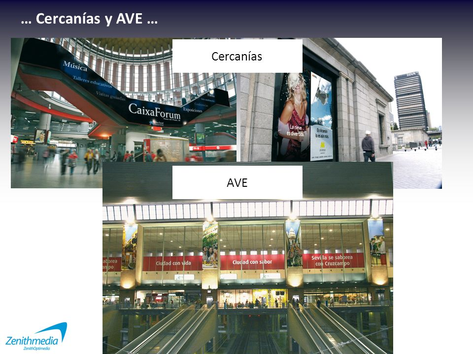 … Cercanías y AVE … Cercanías AVE