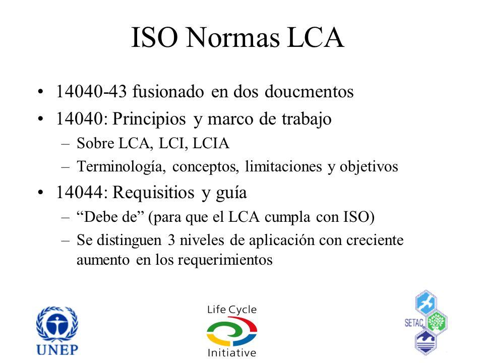 ISO Normas LCA 14040-43 fusionado en dos doucmentos