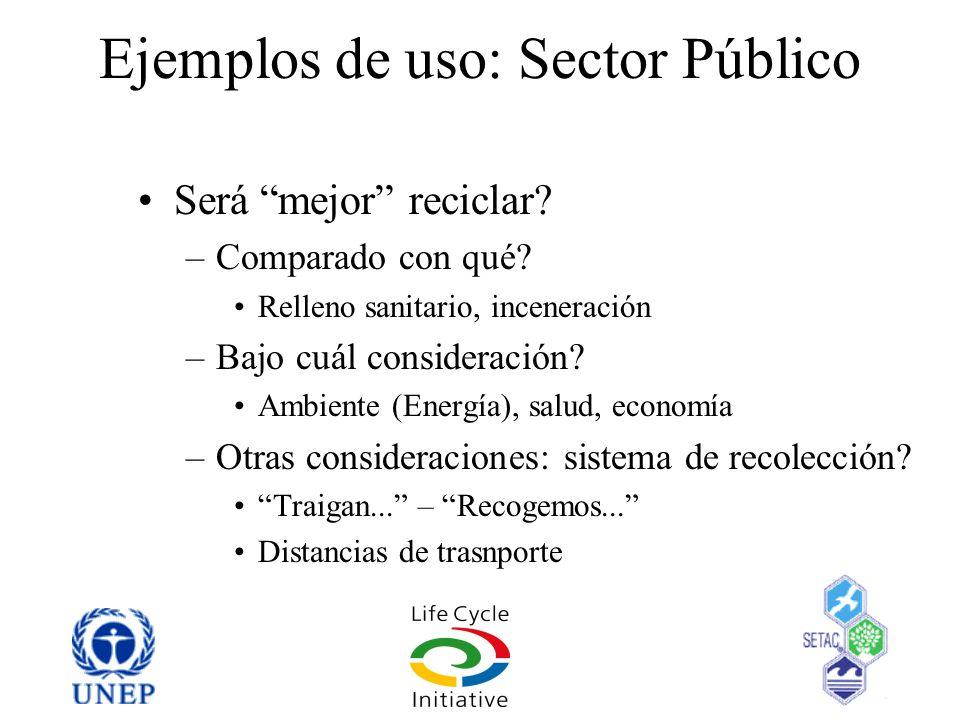 Ejemplos de uso: Sector Público