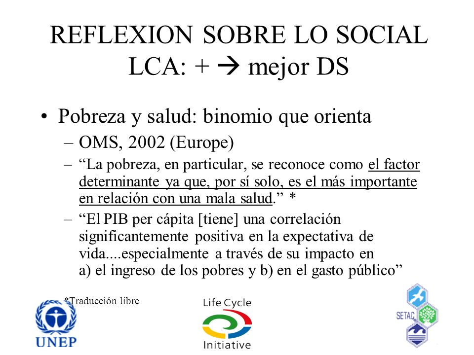 REFLEXION SOBRE LO SOCIAL LCA: +  mejor DS