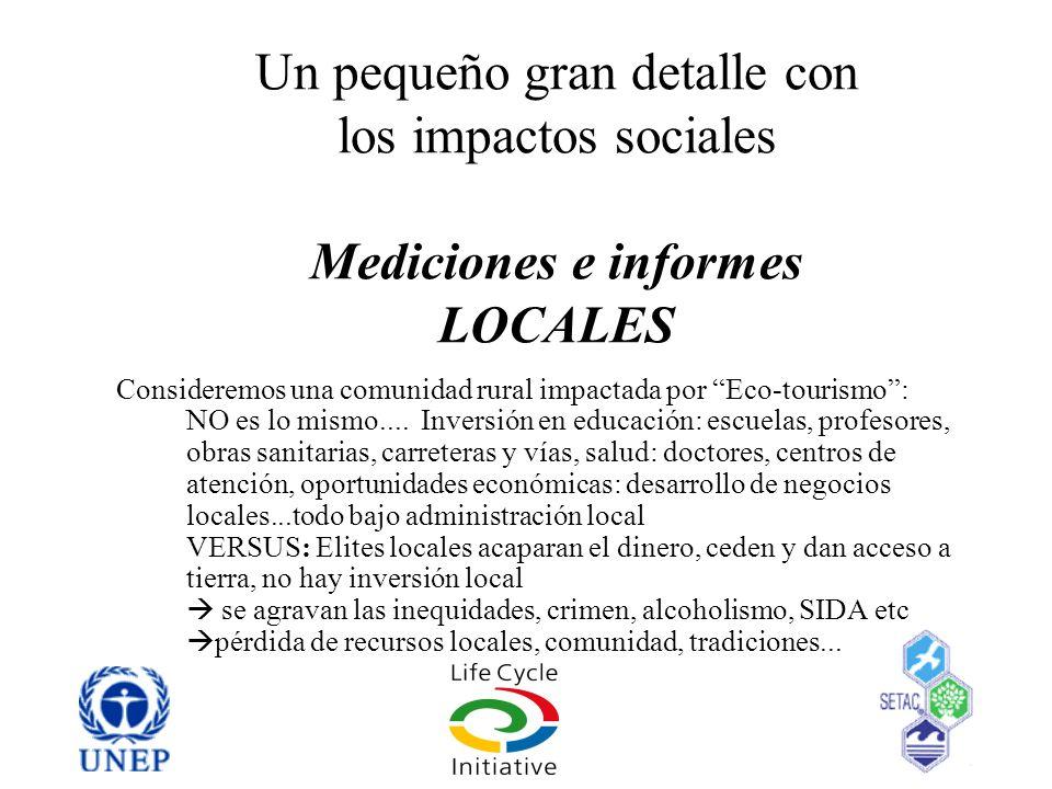 Un pequeño gran detalle con los impactos sociales Mediciones e informes LOCALES