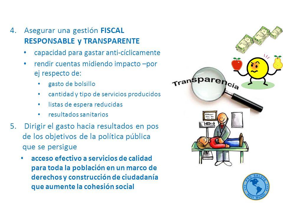 Asegurar una gestión FISCAL RESPONSABLE y TRANSPARENTE