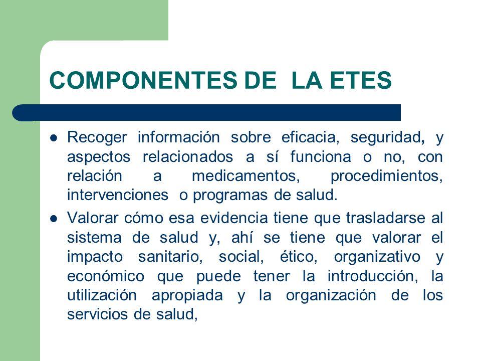 COMPONENTES DE LA ETES